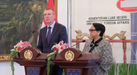 Menlu RI dan Menlu Latvia Tegaskan Komitmen Kerja Sama Bilateral