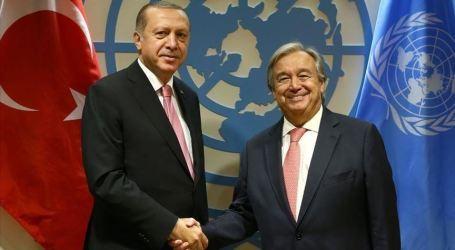 Erdogan Bertemu Sekjen PBB dan Pemimpin Dunia di New York