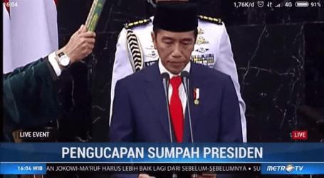 Pengamat : Pidato Pelantikan, Jokowi Tidak Singgung Pemberantasan Korupsi