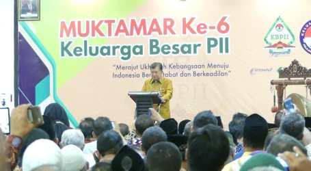 JK Buka Muktamar ke 6 KB Pelajar Islam Indonesia