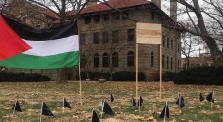 Mahasiswa AS Dirikan Memorial untuk 34 Warga Palestina Korban Serangan Israel