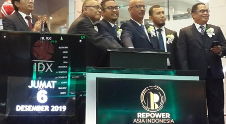 Resmi IPO, Saham Repower Melesat 70%