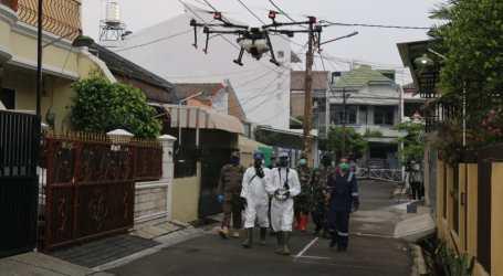 Pemprov. DKI Lakukan Disinfeksi Gunakan Drone dan Spray Darat di Lima Wilayah
