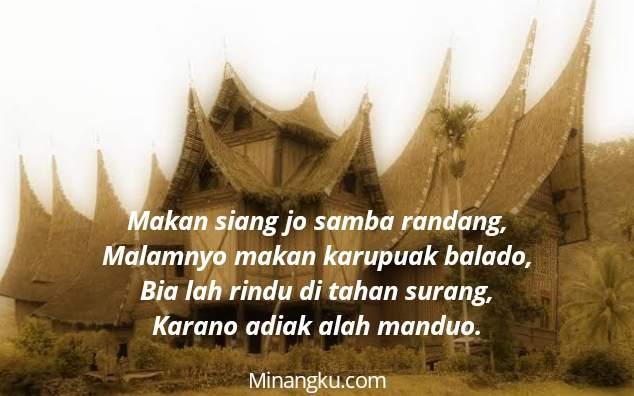 Pantun bahasa Minang tentang cinta