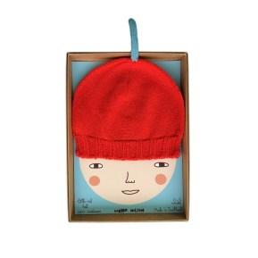 Bonnet rouge Donna Wilson