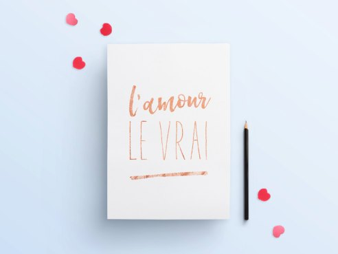 Affiche Saint-Valentin - L'encrerie Marine