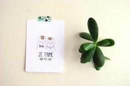 Carte postale Je t'aime mon ptit chat - God Save the Teatime