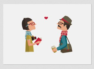 Artprint Love Hipster Tutticonfetti