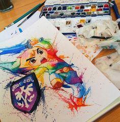 link-watercolor By Lisa - Marie Melin