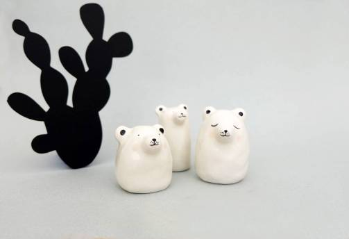 Figurines ours blancs