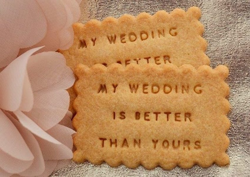 biscuit message personnalisé mariage