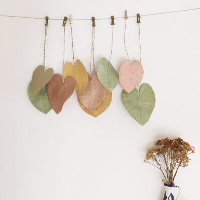 Déco feuilles en coton