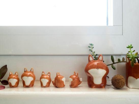 Famille renard figurines