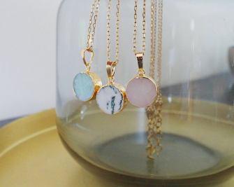 Collier cristal minéraux - Adele Et Louise Bijoux