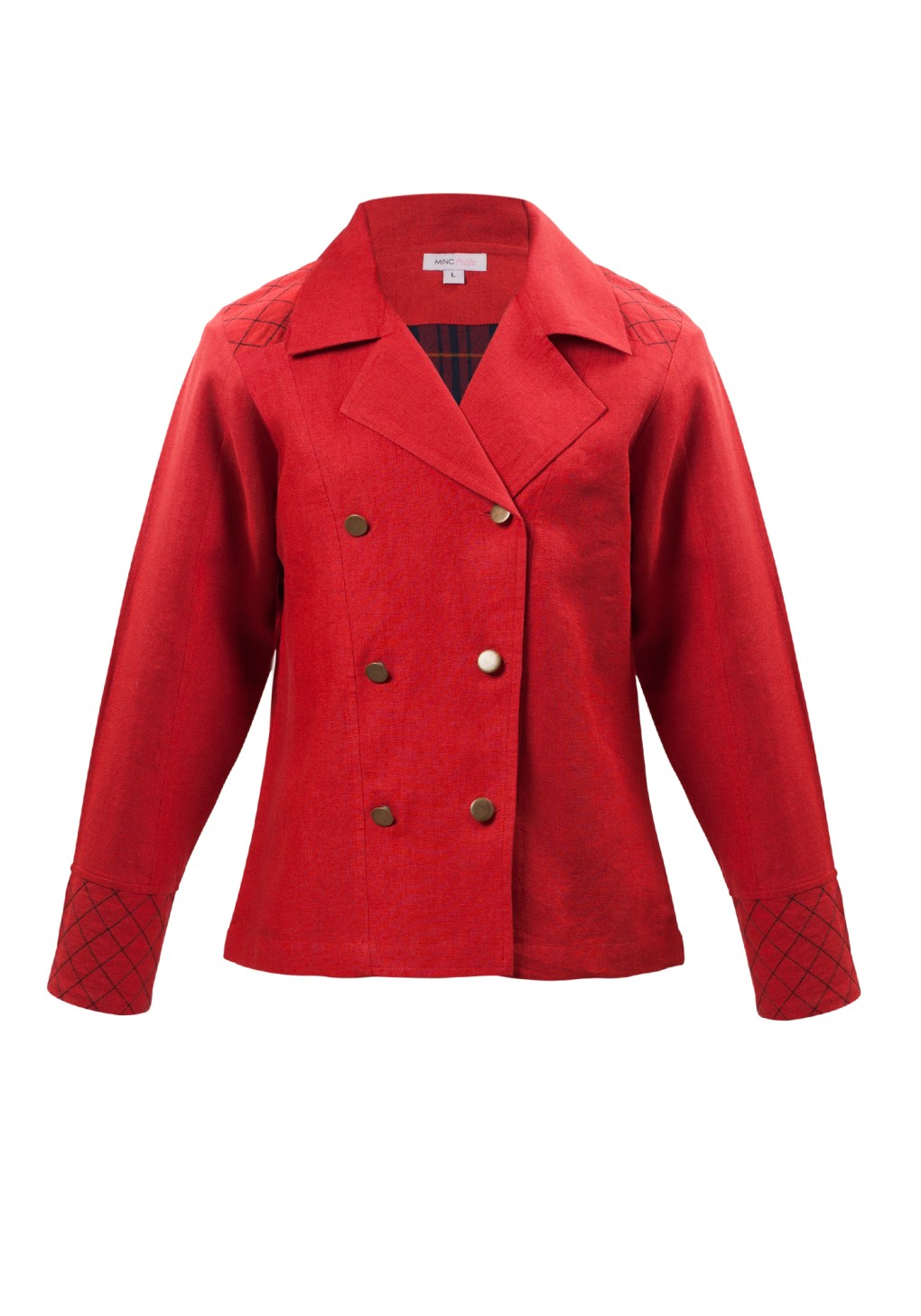 Little Toy Soldier Jacket In Red Linen