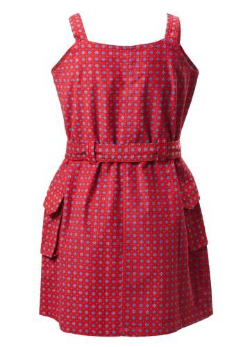 MINC Petite Fiery Spring Girls Short Dress in Printed Cotton