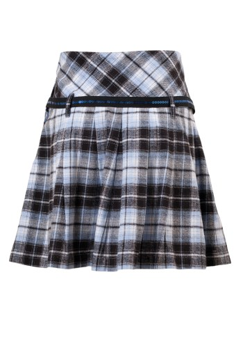 MINC Petite Preppy Girls Short Skirt in Blue Checks