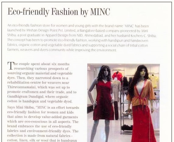 MINC as featured in apparel online