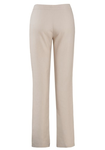 MINC Narrow Trousers in Off White Linen with Drawstring