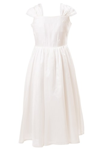 MINC Petite Summer Love Holy Communion Embroidered Girls Dress in White Silk