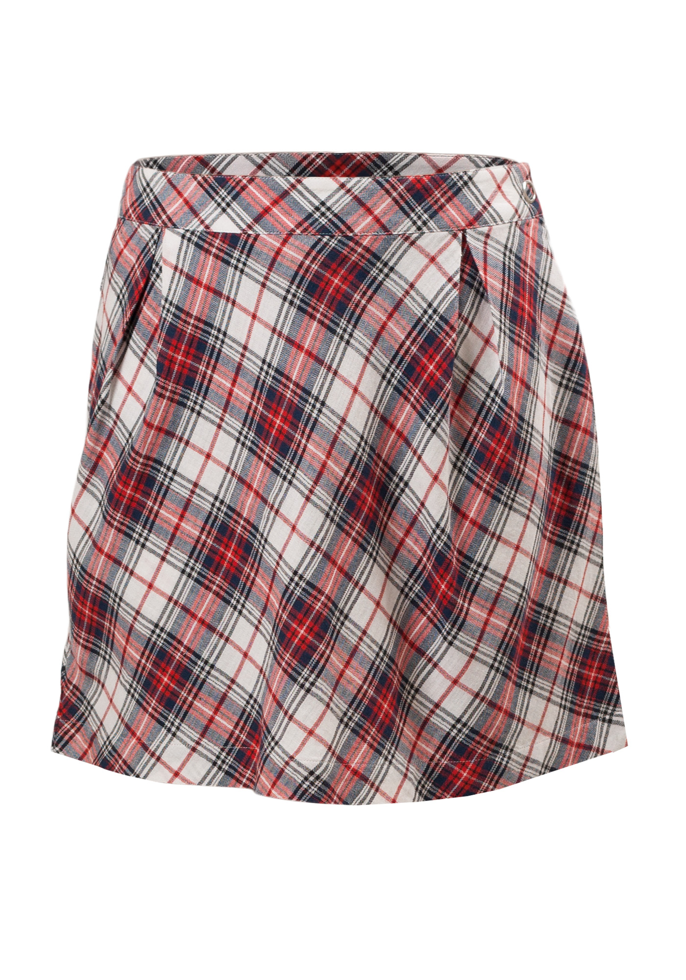 MINC Petite Tartan Girls Skorts in Red, White and Blue Yarn Dyed Cotton Checks