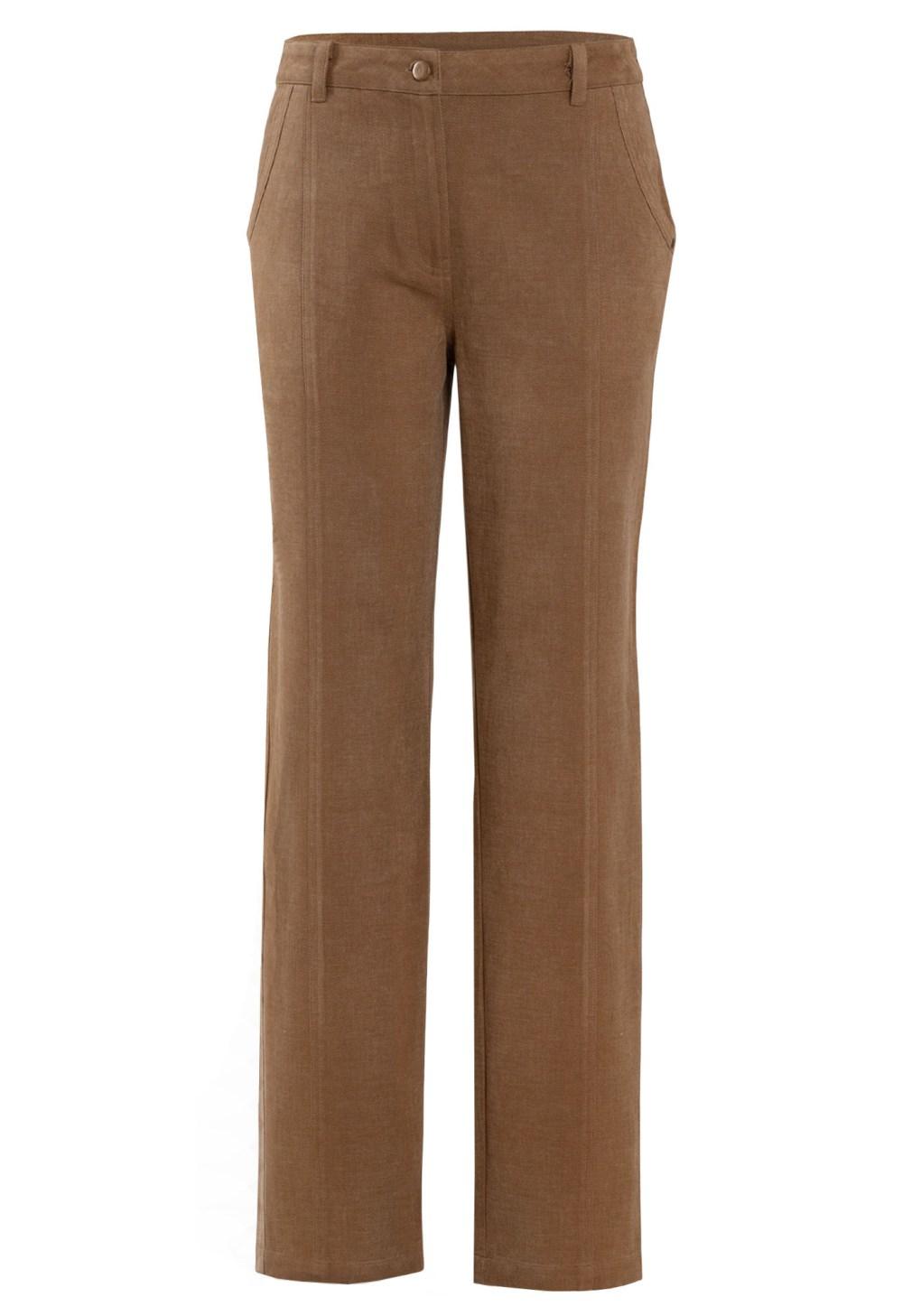 MINC ecofashion Cargo Style Brushed Cotton Twill Trousers in Khaki