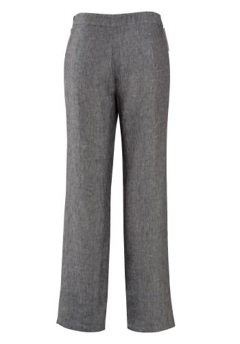 MINC ecofashion Pleated Linen Trousers in Frost Grey