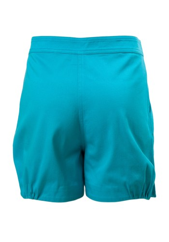MINC Petite Blue Lagoon Embroidered Girls Shorts in Blue Cotton Twill