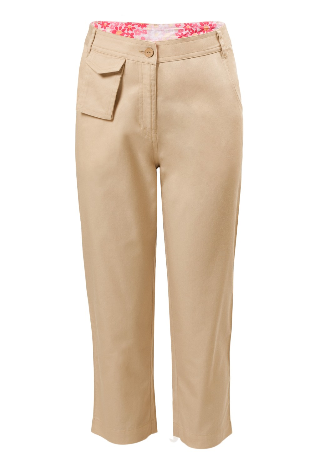 MINC Petite Girls Capris in Beige Cotton Twill