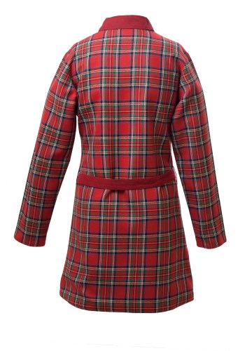 MINC Petite Girls Inversible Dressing Jacket in Red Checked Cotton