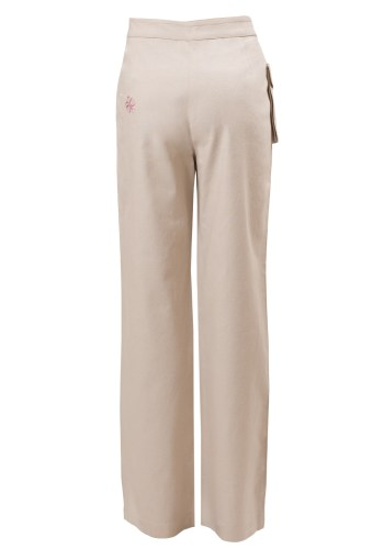 MINC Petite Sweet Pea Girls Trousers in Off-White Cotton Linen