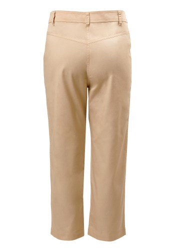 MINC Petite Winter Wheat Girls Capris in Beige Cotton Twill