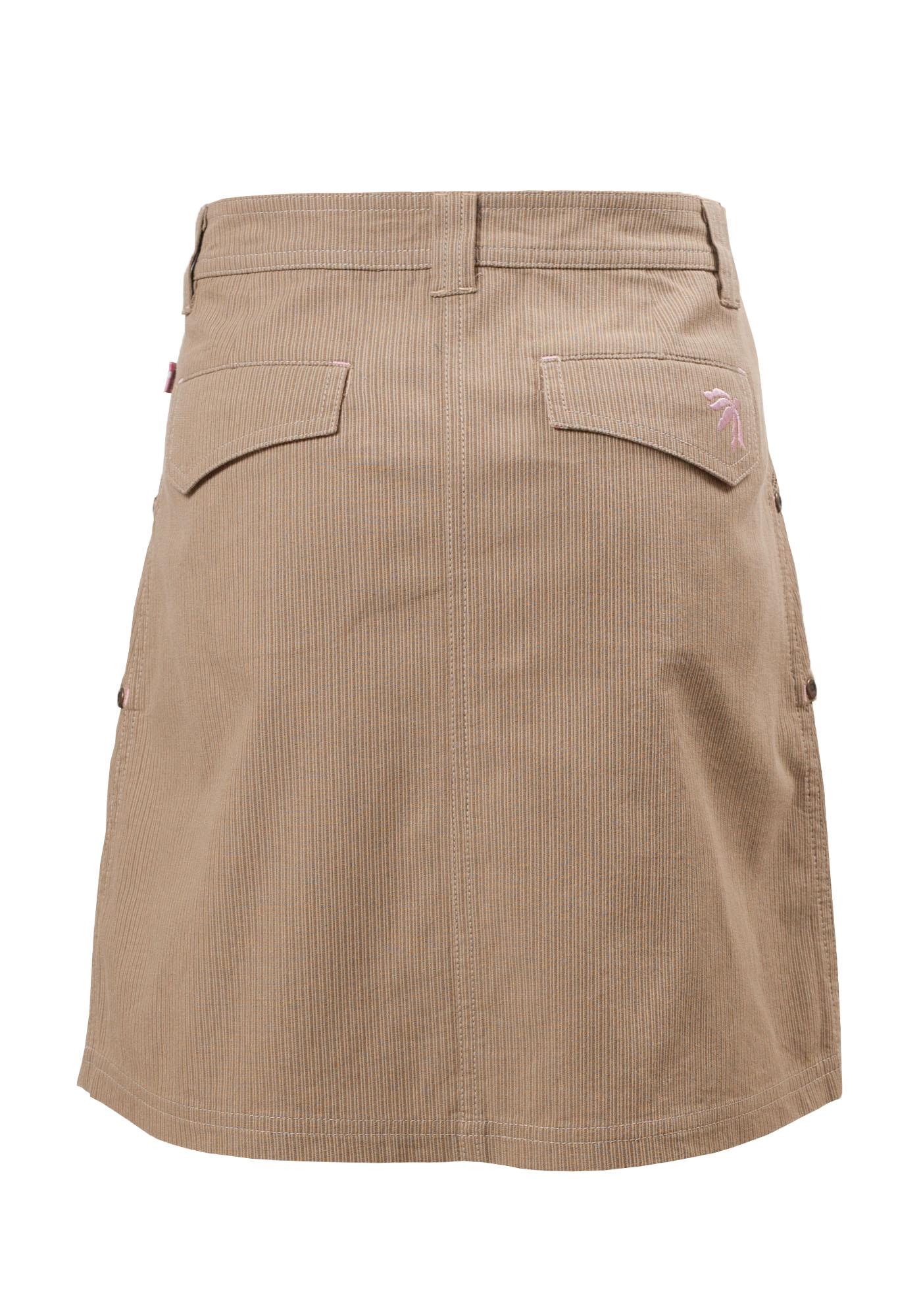 MINC Petite Autumn Fun Girls Embroidered Skirt in Beige Corduroy