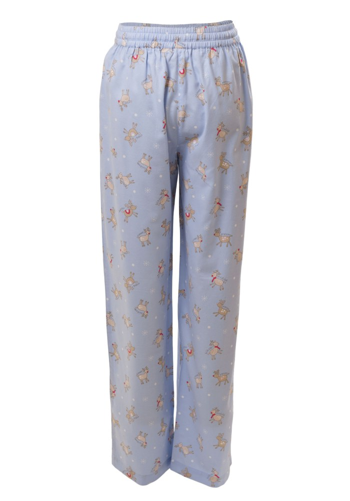 MINC Petite Girls Sleepwear Pajamas in Printed Blue Cotton