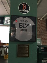 The jersey that was worn to honor those affected by the Boston Marathon bombing.