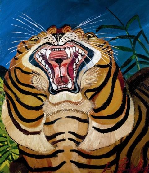 Antonio-Ligabue-Testa-di-tigre-1955-1956-olio-su-tavola-75x64-cm