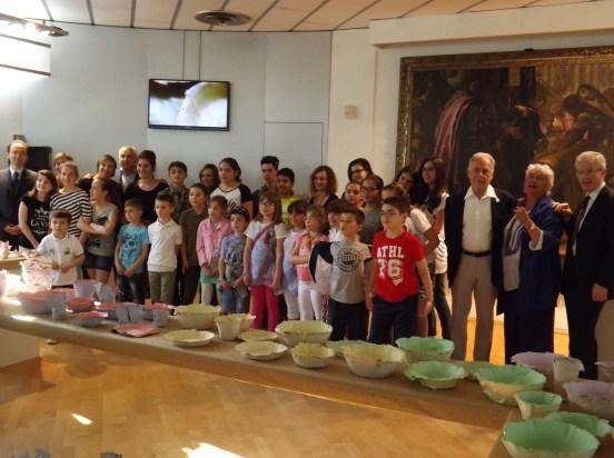 Foto di gruppo prima della presentazione del progetto