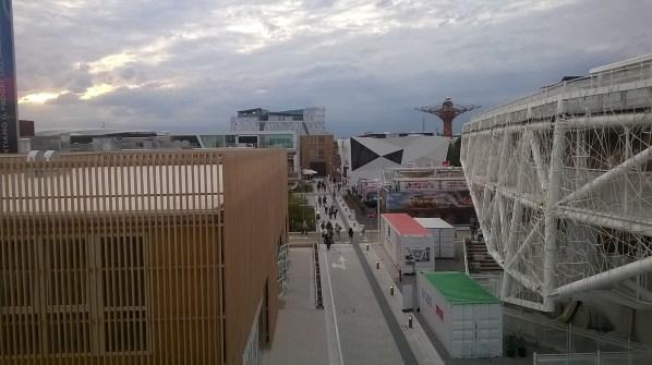 Panoramica di una porzione dell'Expo