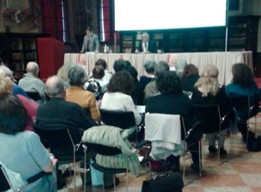 Festa della storia Bologna - vicesindaco Franco Albinelli e prof. Paolo Golinelli