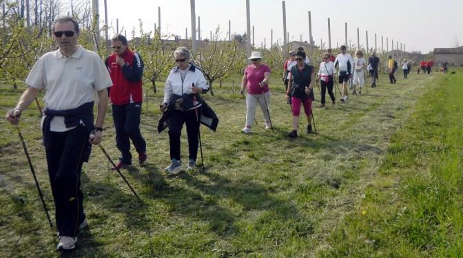 I walkers durante l'escursione a Ceresara