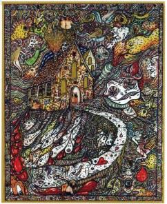 GIORDANO NONFARMALE (MALE) - Ritorno a casa, 2008, tecnica mista su cartone, cm. 51x40,5