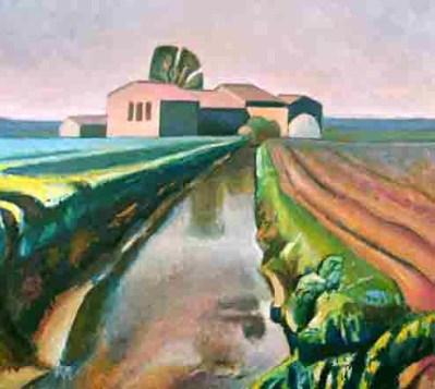 canale-nella-pianura- di Fosco Bertani