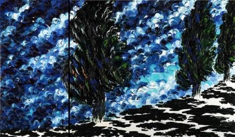 Anna Ghisleni - Cipressi - Composizione n.15 - Dittico