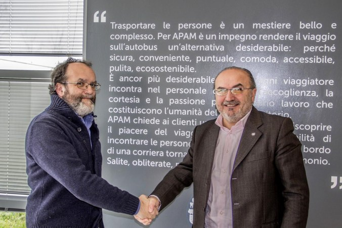 da sx Daniele Trevenzuoli -  presidente APAM e Massimo Pantiglioni  - dirigente scolastico Ist.Strozzi