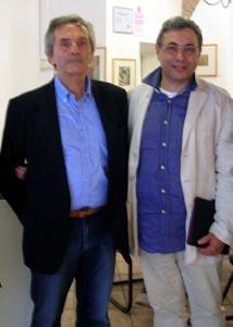 il pittore-Enos-Rizzi e il direttore del Mam-Gianfranco Ferlisi