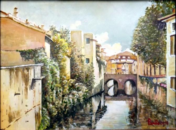 Natale Paulis - Scorcio del Rio dipinto a olio