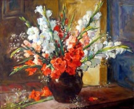GRAZIANI ALFIO PAOLO gladioli multicolori, olio su tela, 80x100 (200).jpg