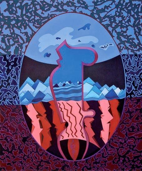 Maternità (2005 - olio su tela)