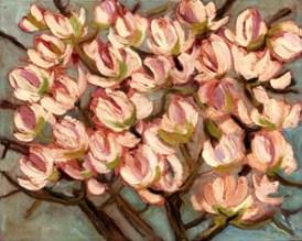 NEGRI SANDRO, Rami di magnolia, 2008, olio su tela, 40x50 (200)