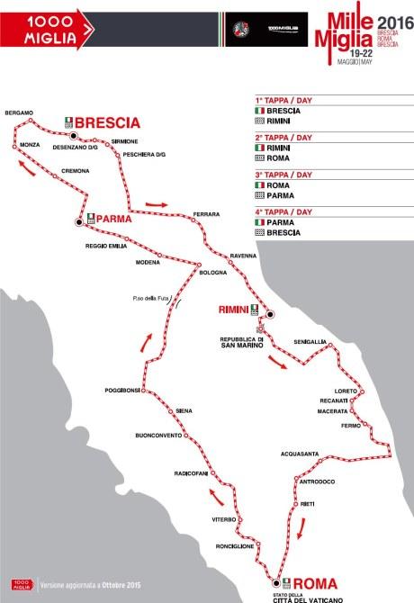 tracciato 1000 Miglia 2016
